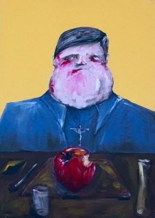 """Hungern 1"" Acrylic on canvas 50 x 70 cm. 2012 -"
