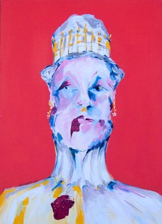 """Hungern 2"" Acrylic on canvas 50 x 70 cm. 2012 -"