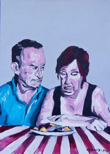 """Hungern 5"" Acrylic on canvas 50 x 70 cm. 2012 -"