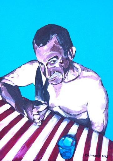 """Hungern 6"" Acrylic on canvas 50 x 70 cm. 2012 -"