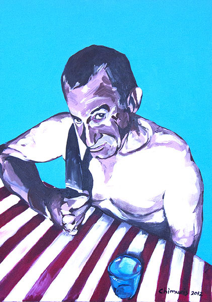 """Hungern 6"" Acrylic on canvas 50 x 70 cm. 2012 -"
