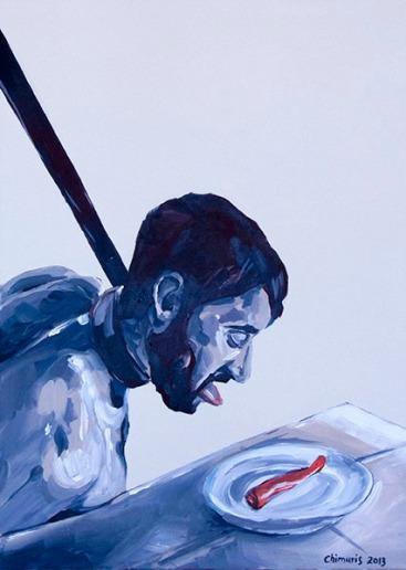 """Hungern 7"" Acrylic on canvas 50 x 70 cm. 2012 -"