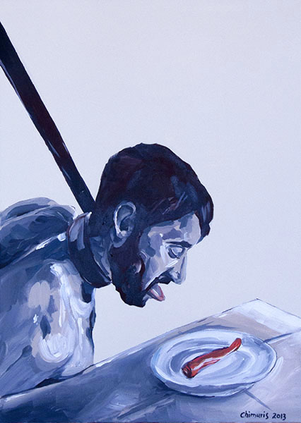 """Hungern 7"" Acrylic on canvas 50 x 70 cm. 2012 -"