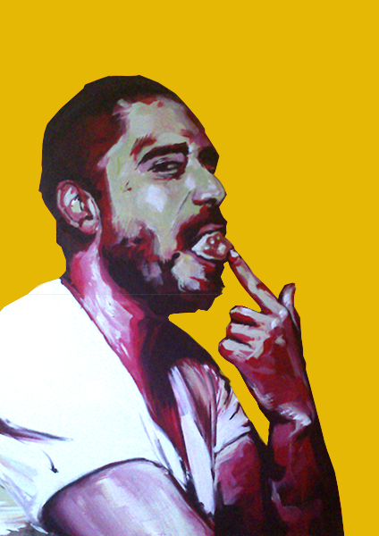 """Hungern 8"" Acrylic on canvas 50 x 70 cm. 2012 -"